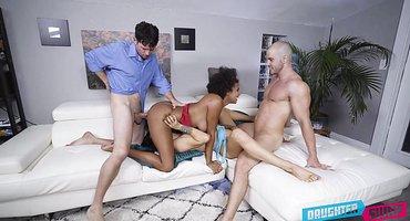 Парни замутили с лучшими подругами секс вчетвером